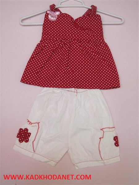 لباس تاپ شلوارک دخترانه