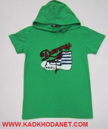 تی شرت گیاهی کلاهدار تابستانه