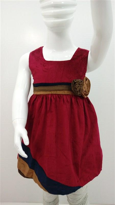 لباس-سارافن-مخمل-دختر-بچه-پاییز-زمستان (2)