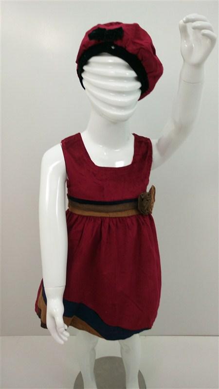 لباس-سارافن-مخمل-دختر-بچه-پاییز-زمستان (3)