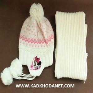 کلاه بافتنی پسرانه و دخترانه ,مدل شال  و کلاه وشال گردن (11)