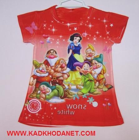 تی شرت طرح داردخترانه سفیدبرفی (1)