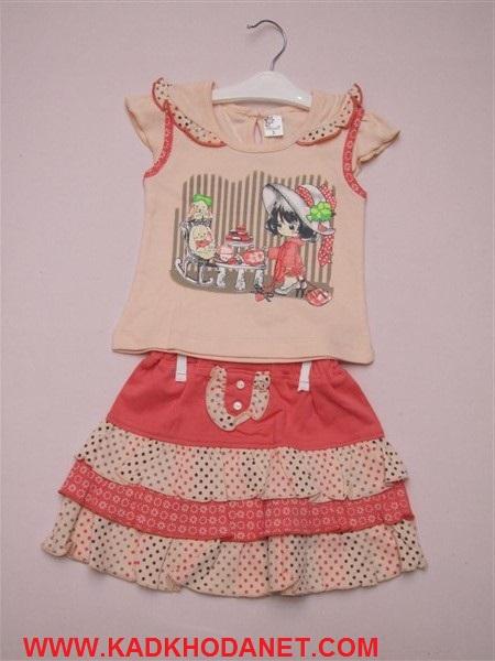 بلوز شرت دخترانه مارکدار (3)