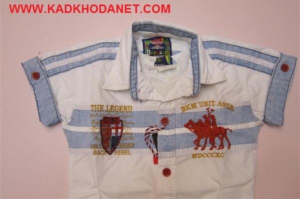 پیراهن کتان بچه پسر (4)