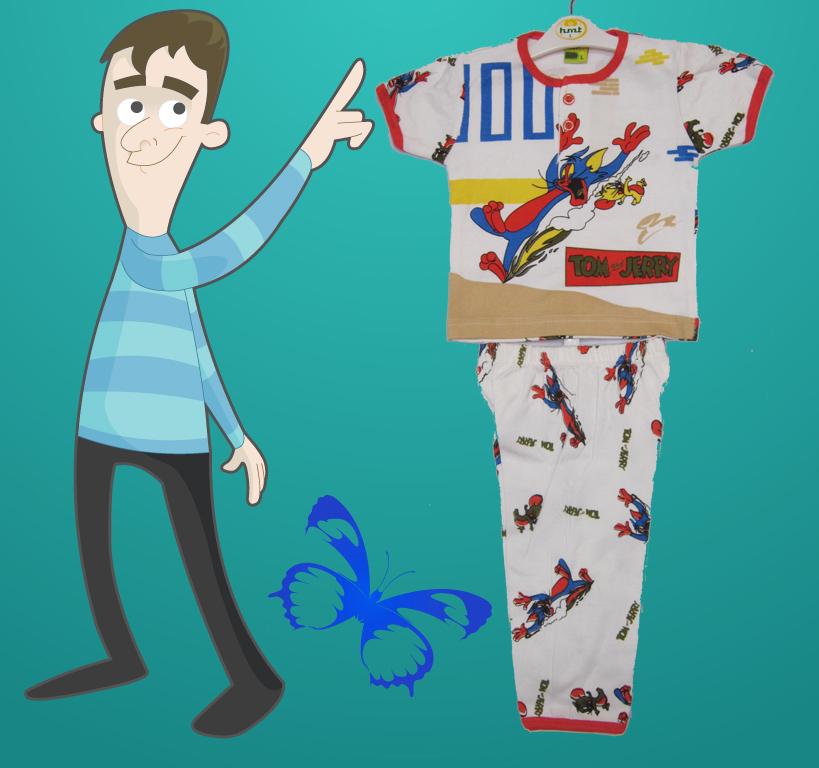 لباس و شلوار پسرانه طرح تام و جری