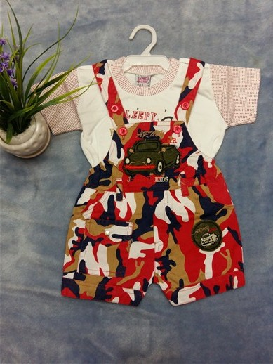 لباس سرهمی نوزادی k141