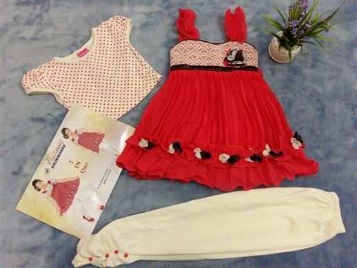 فروش عمده لباس ست هندی دخترانه (5)