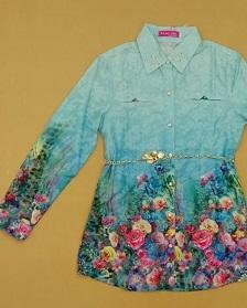 لباس دخترانه مانتو تونیک مدل عید ۱۳۹۶ d675