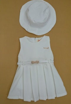 لباس سارافن کلاهدار نقلی دخترانه p132