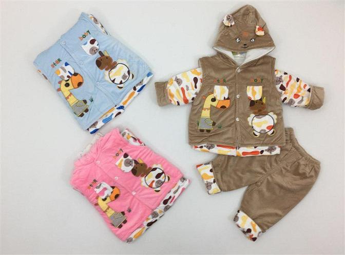لباس سه تیکه زمستانه بچه گانه